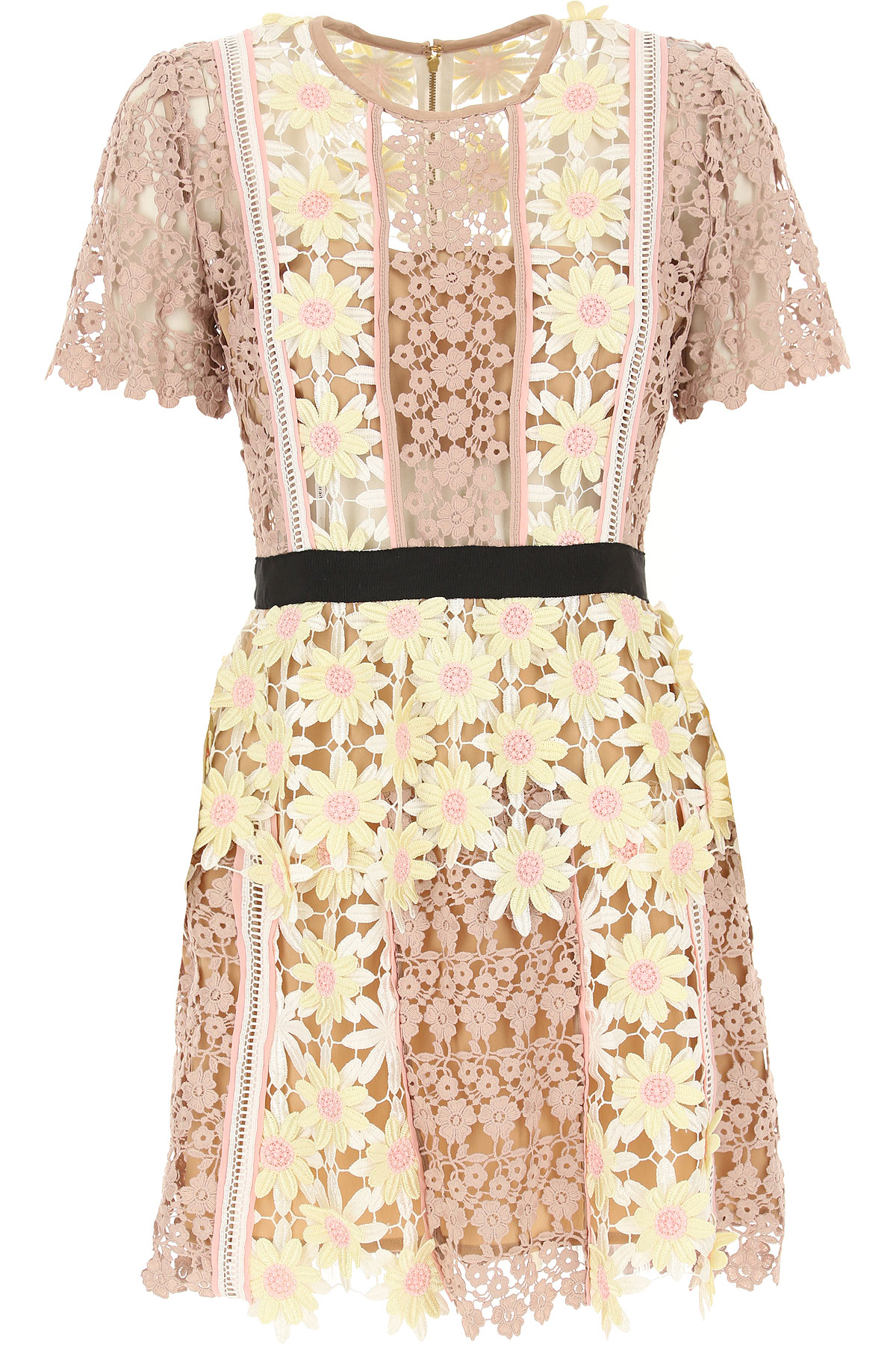 Self-portrait Dress for Women, Evening Cocktail Party On Sale in Outlet, antique pink, polyester, 2017, UK 10 - US 8 - EU 42 UK 12 - US 10 - EU 44