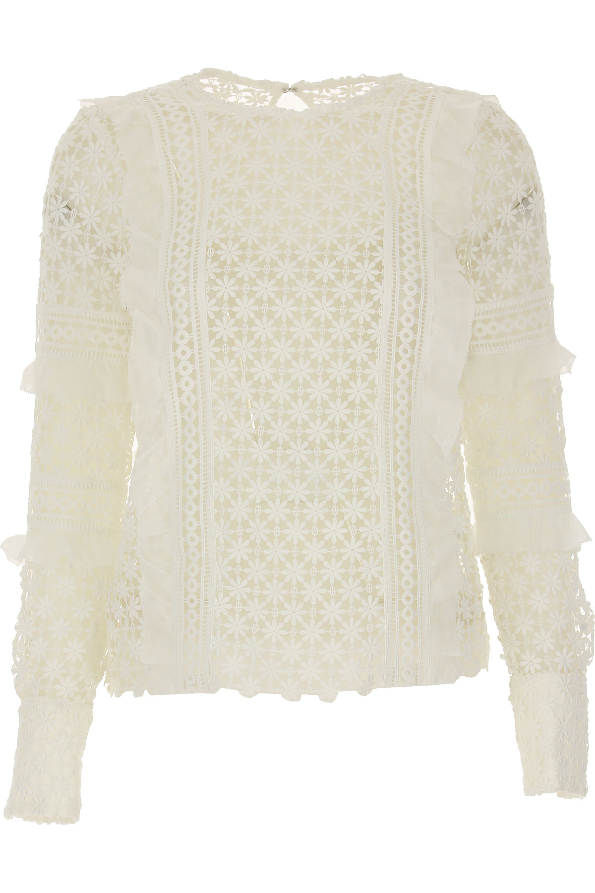 Self-portrait Top for Women On Sale in Outlet, White, polyester, 2017, UK 8 - US 6 - EU 40 UK 12 - US 10 - EU 44