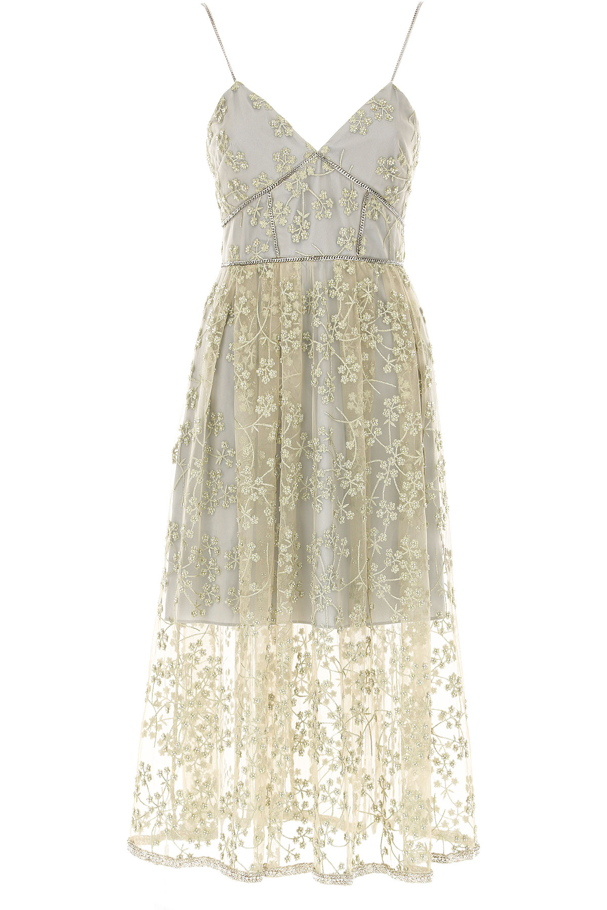 Image of Self-portrait Dress for Women, Evening Cocktail Party, Gold, polyestere, 2017, UK 6 - US 4 - EU 38 UK 10 - US 8 - EU 42 UK 12 - US 10 - EU 44