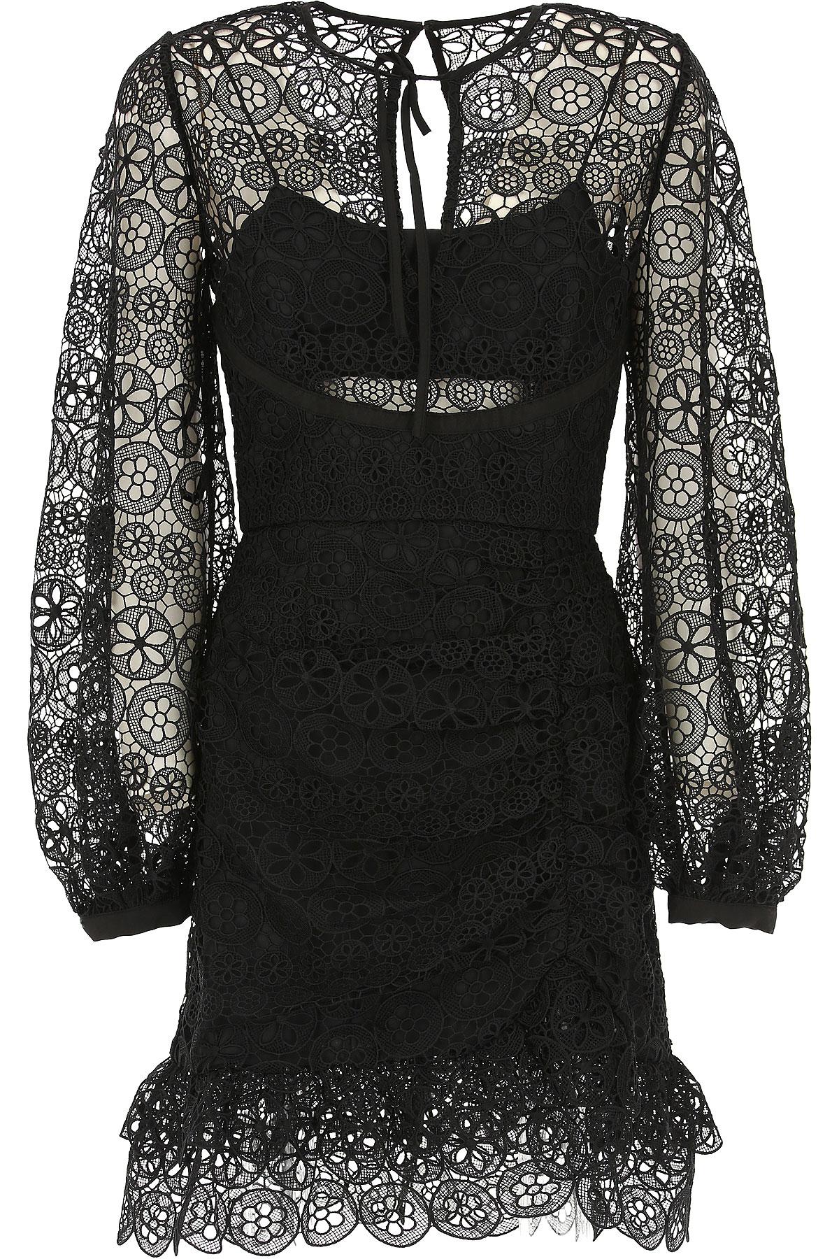 Self-portrait Dress for Women, Evening Cocktail Party On Sale, Black, polyestere, 2017, UK 8 - US 6 - EU 40 UK 10 - US 8 - EU 42