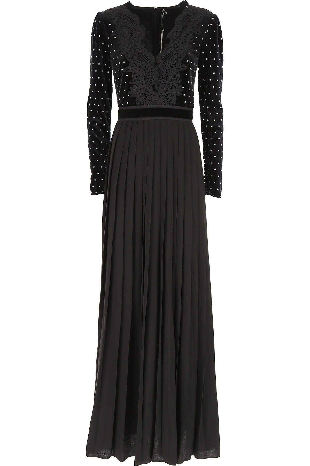 Self-portrait Dress for Women, Evening Cocktail Party, Black, polyester, 2017, UK 8 - US 6 - EU 40 UK 10 - US 8 - EU 42