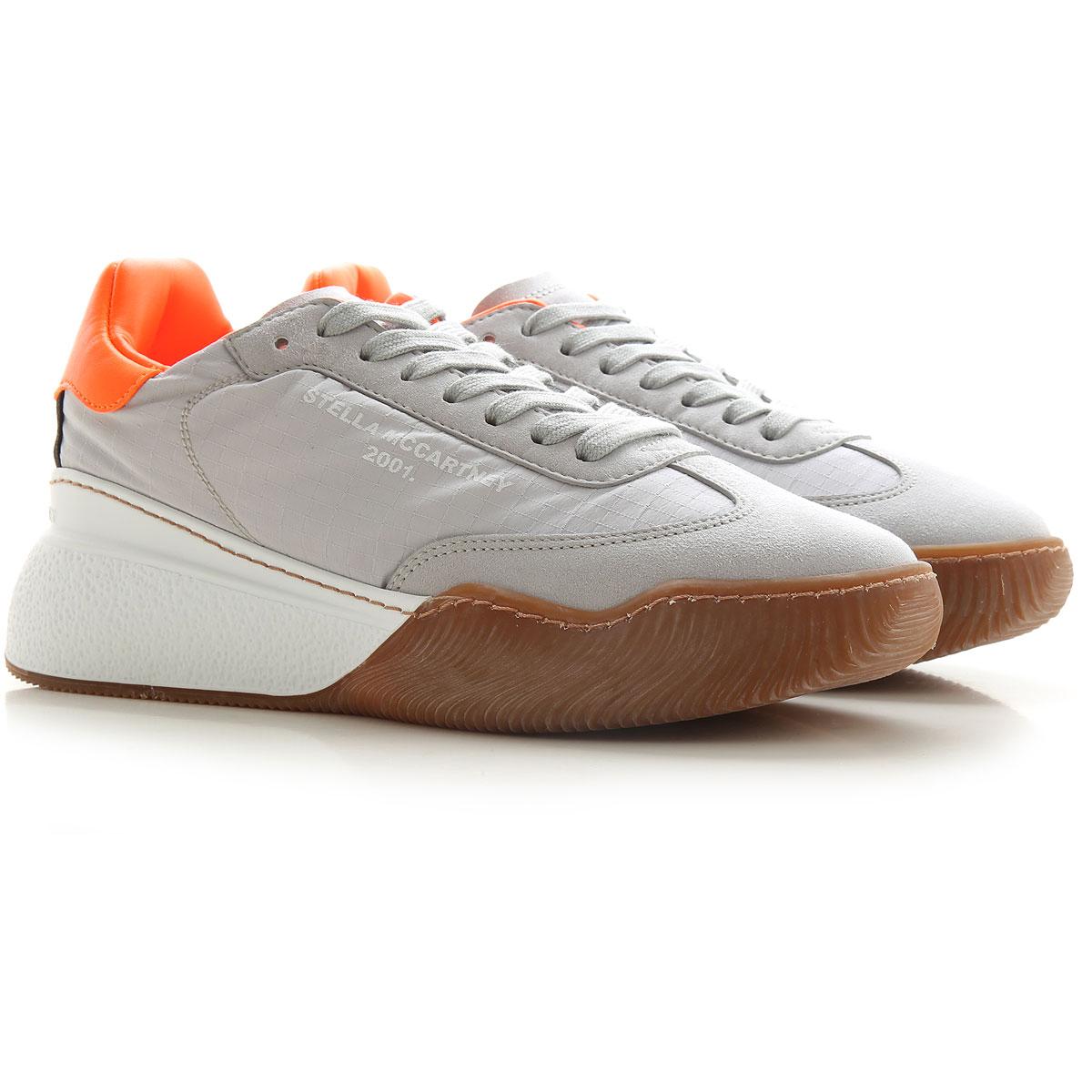 Stella McCartney Sneaker Femme Pas cher en Soldes, Gris perle, Nylon, 2019, 35 36 38 39