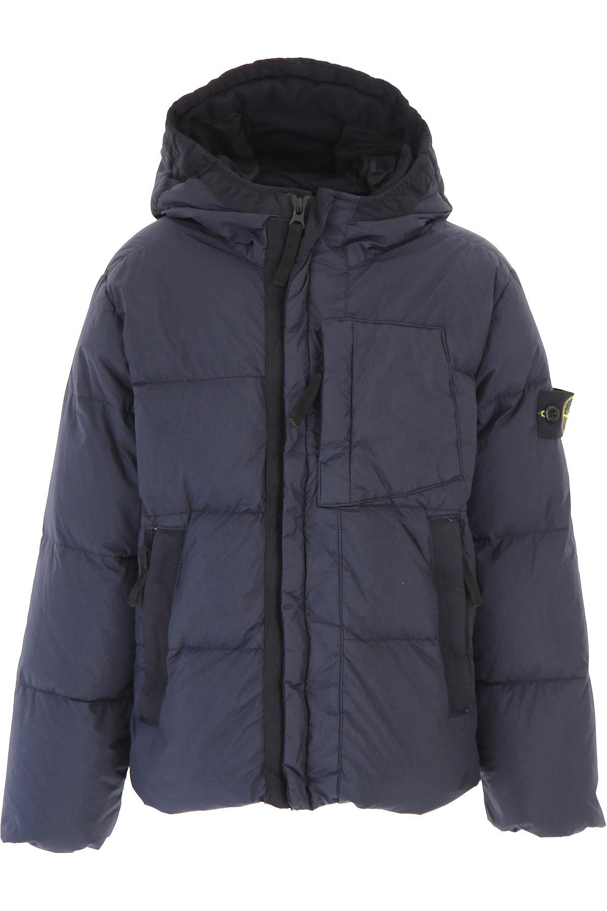 Image of Stone Island Boys Down Jacket for Kids, Puffer Ski Jacket, Blue, polyamide, 2017, 10Y 14Y 4Y 6Y 8Y