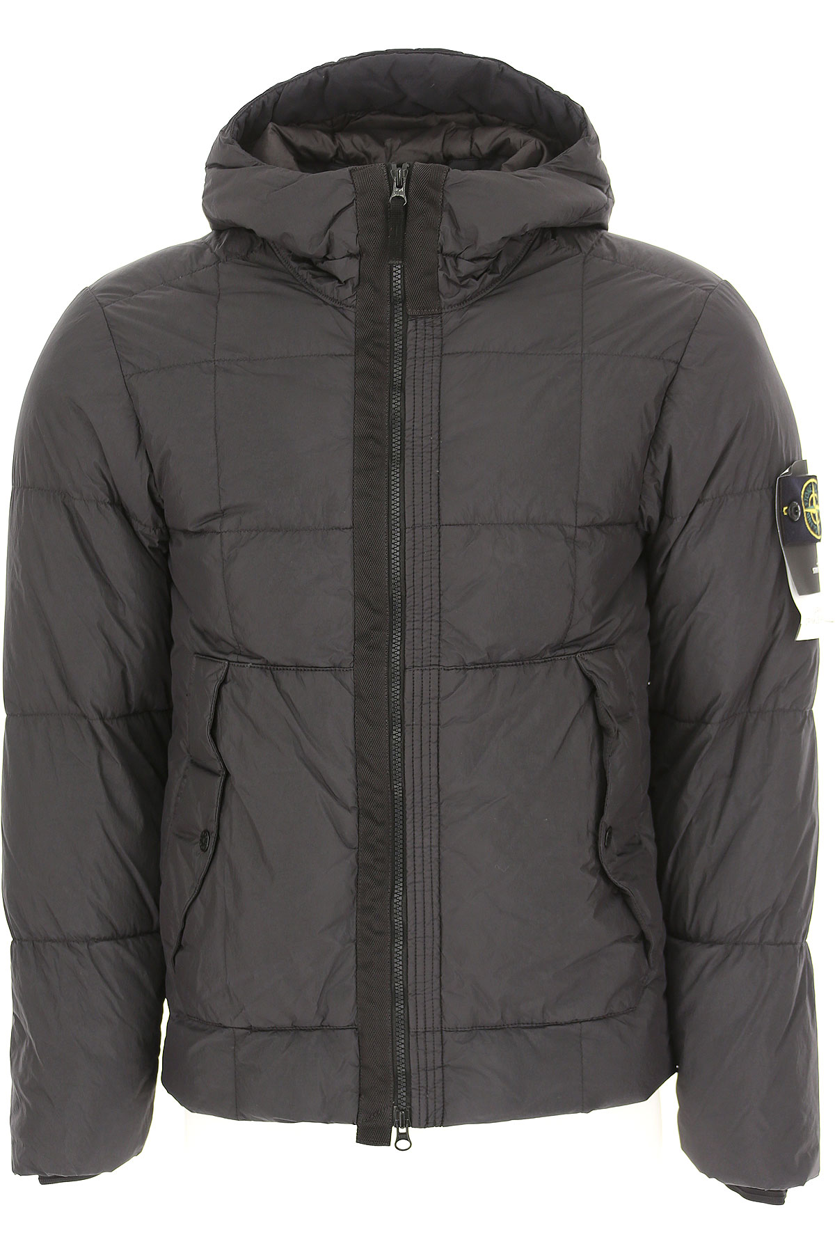 Image of Stone Island Down Jacket for Men, Puffer Ski Jacket, Anthracite Grey, Down, 2017, L M S XL