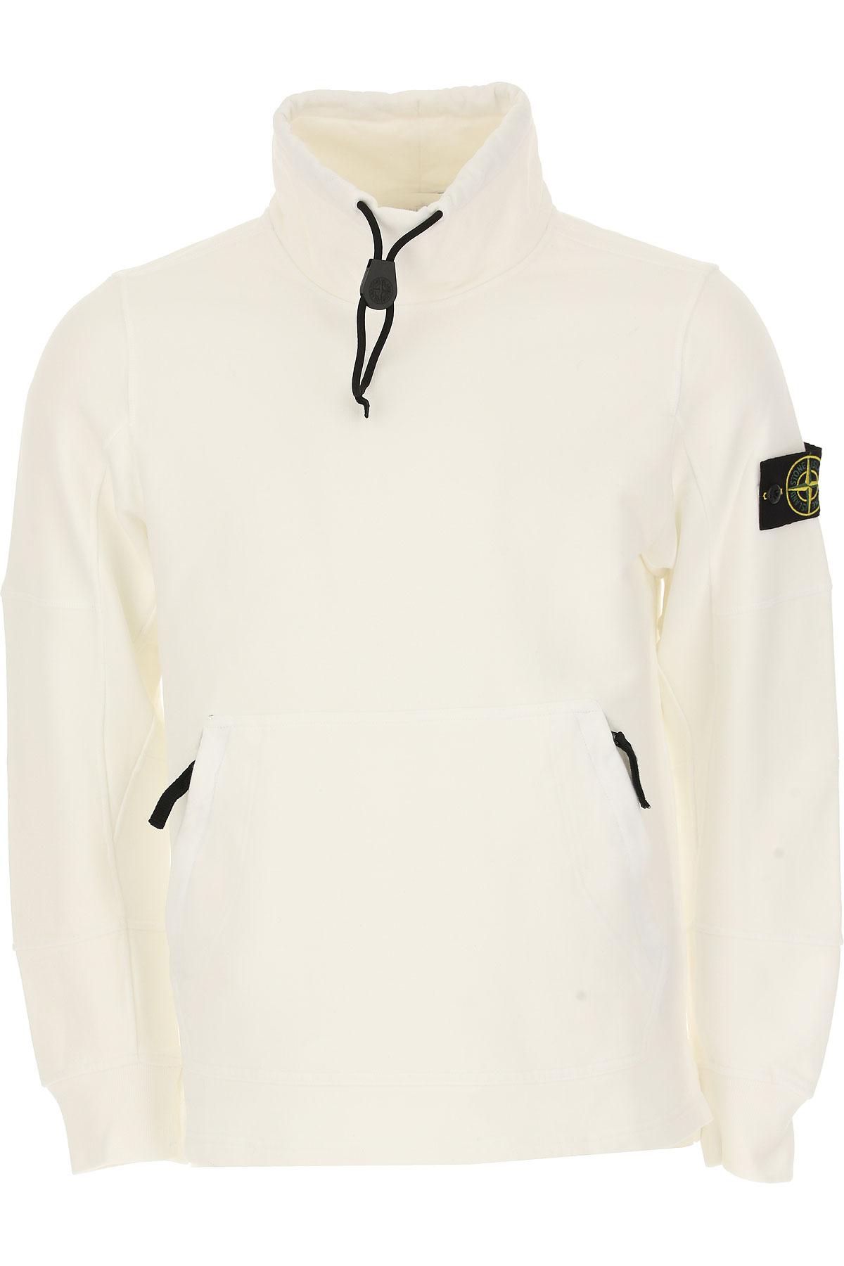 Stone Island Sweatshirt for Men, White, Cotton, 2017, L M S USA-468490