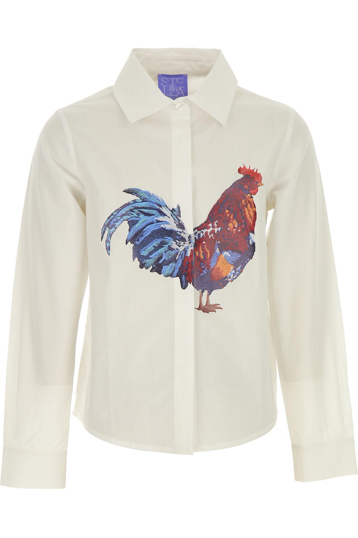 Stella Jean Kids Shirts for Girls On Sale, White, Cotton, 2019, 10Y 4Y 6Y 8Y