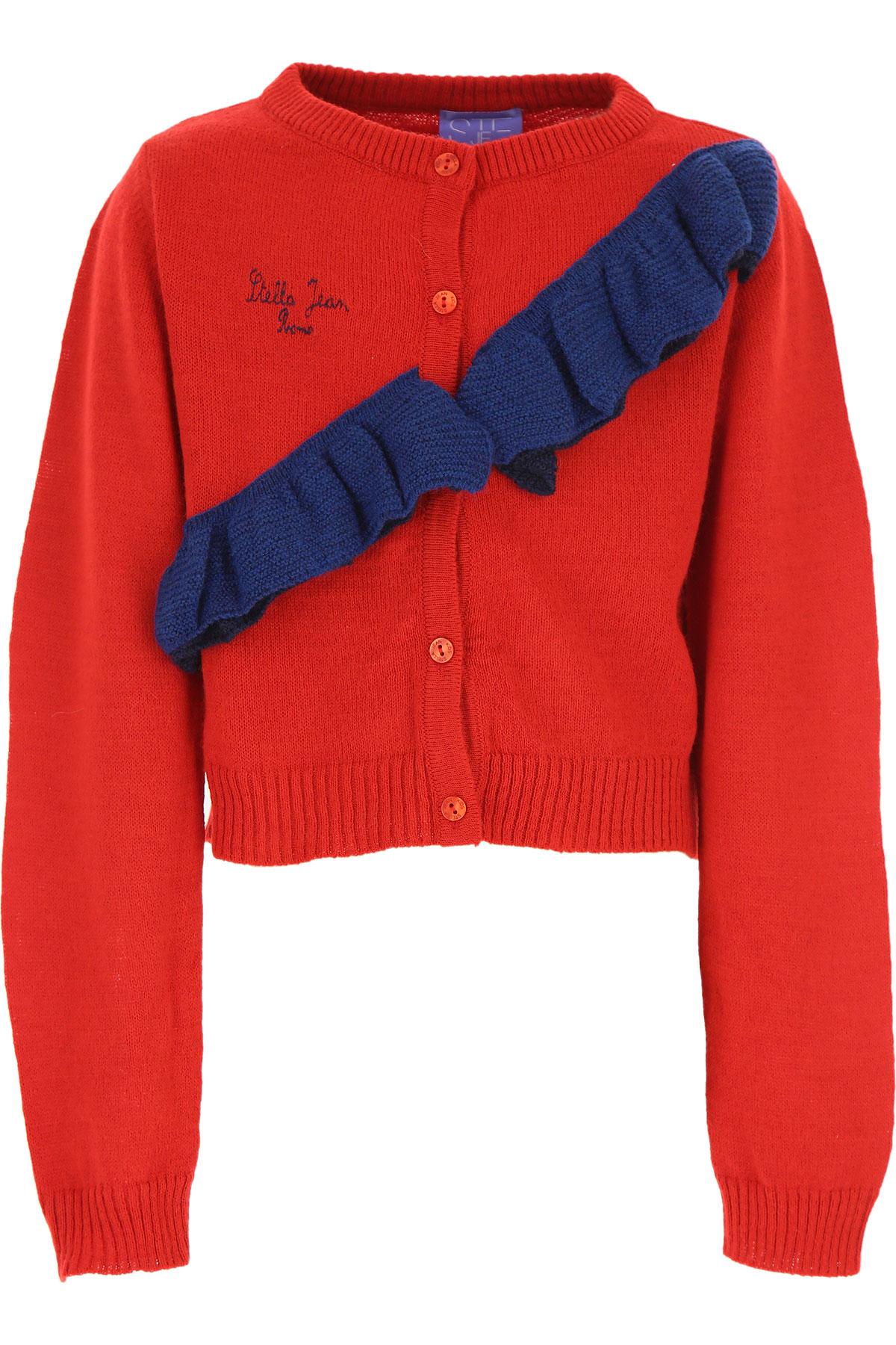 Stella Jean Kids Sweaters for Girls On Sale, Red, Acrylic, 2019, 10Y 4Y 6Y 8Y