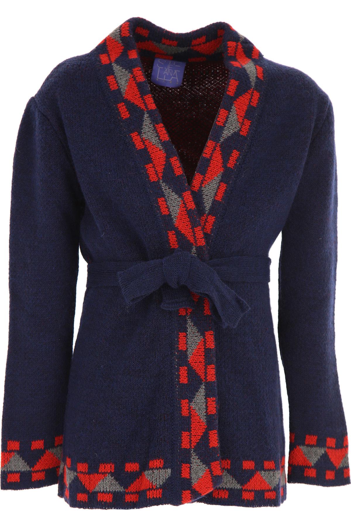 Stella Jean Kids Sweaters for Girls On Sale, Blue, Acrylic, 2019, 10Y 4Y 6Y 8Y