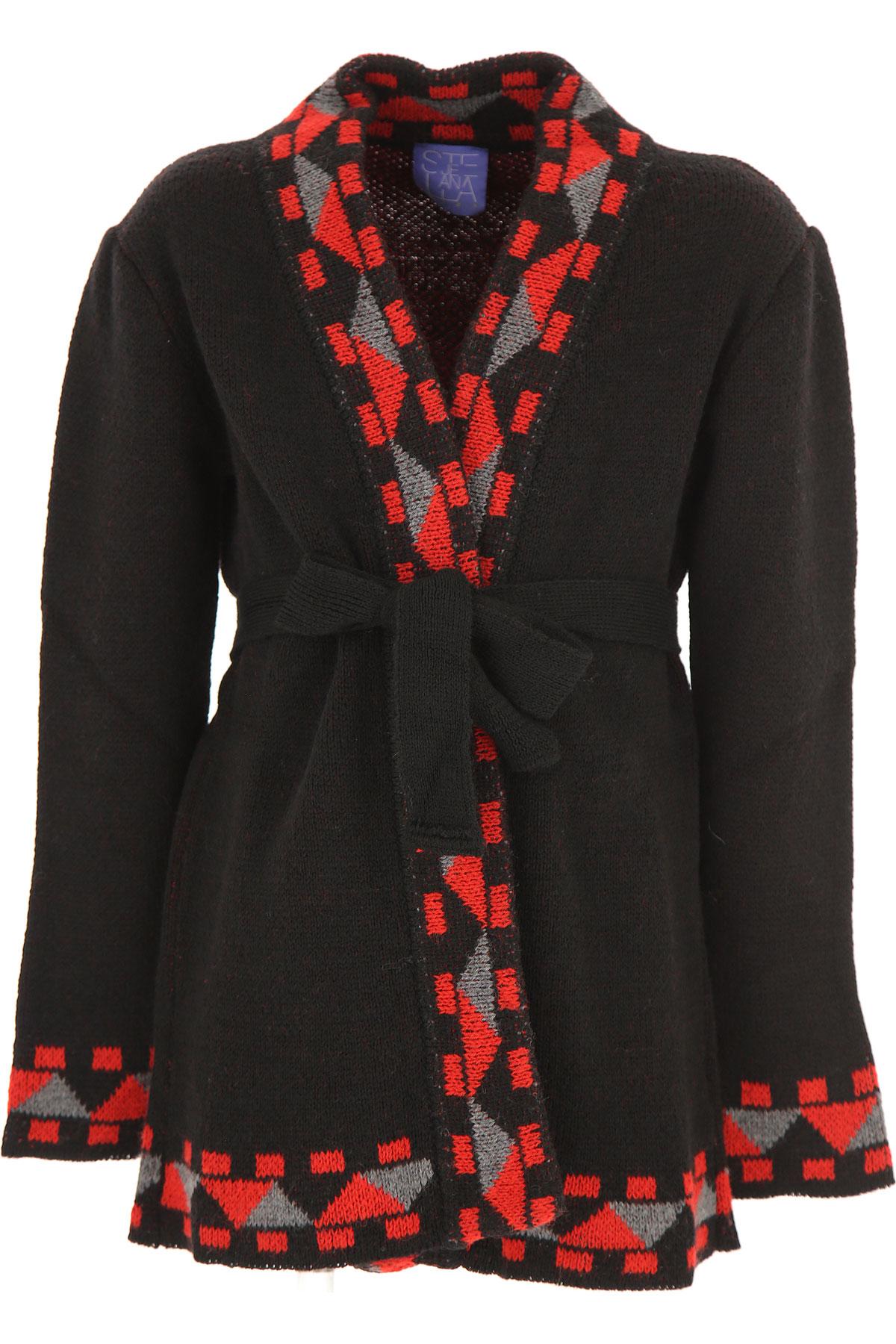 Stella Jean Kids Sweaters for Girls On Sale, Black, Acrylic, 2019, 10Y 4Y 6Y 8Y