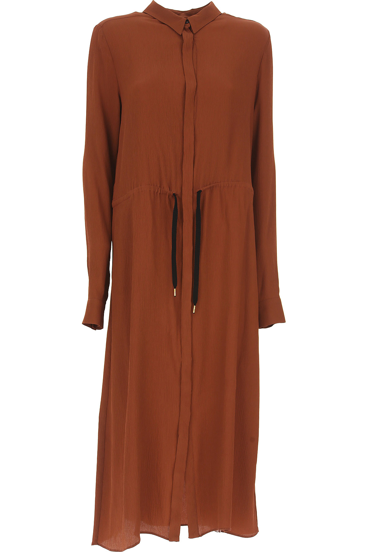 Image of Stella Jean Dress for Women, Evening Cocktail Party On Sale, Brown, polyamide, 2017, 4 8