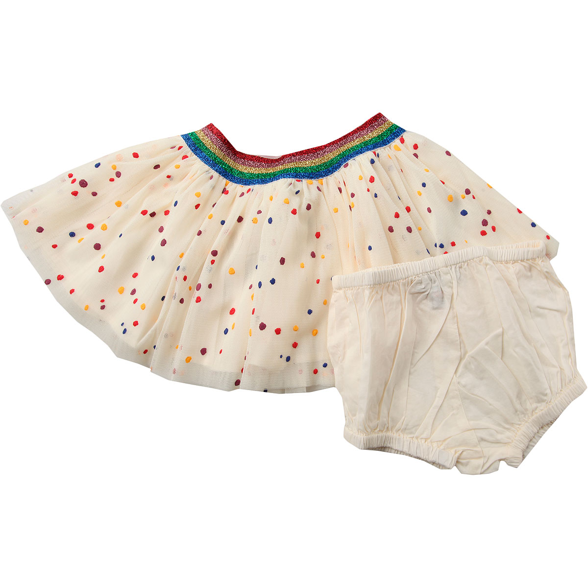 Image of Stella McCartney Baby Skirts for Girls, Ivory, polyester, 2017, 12M 18M 2Y 3M 3Y 6M 9M
