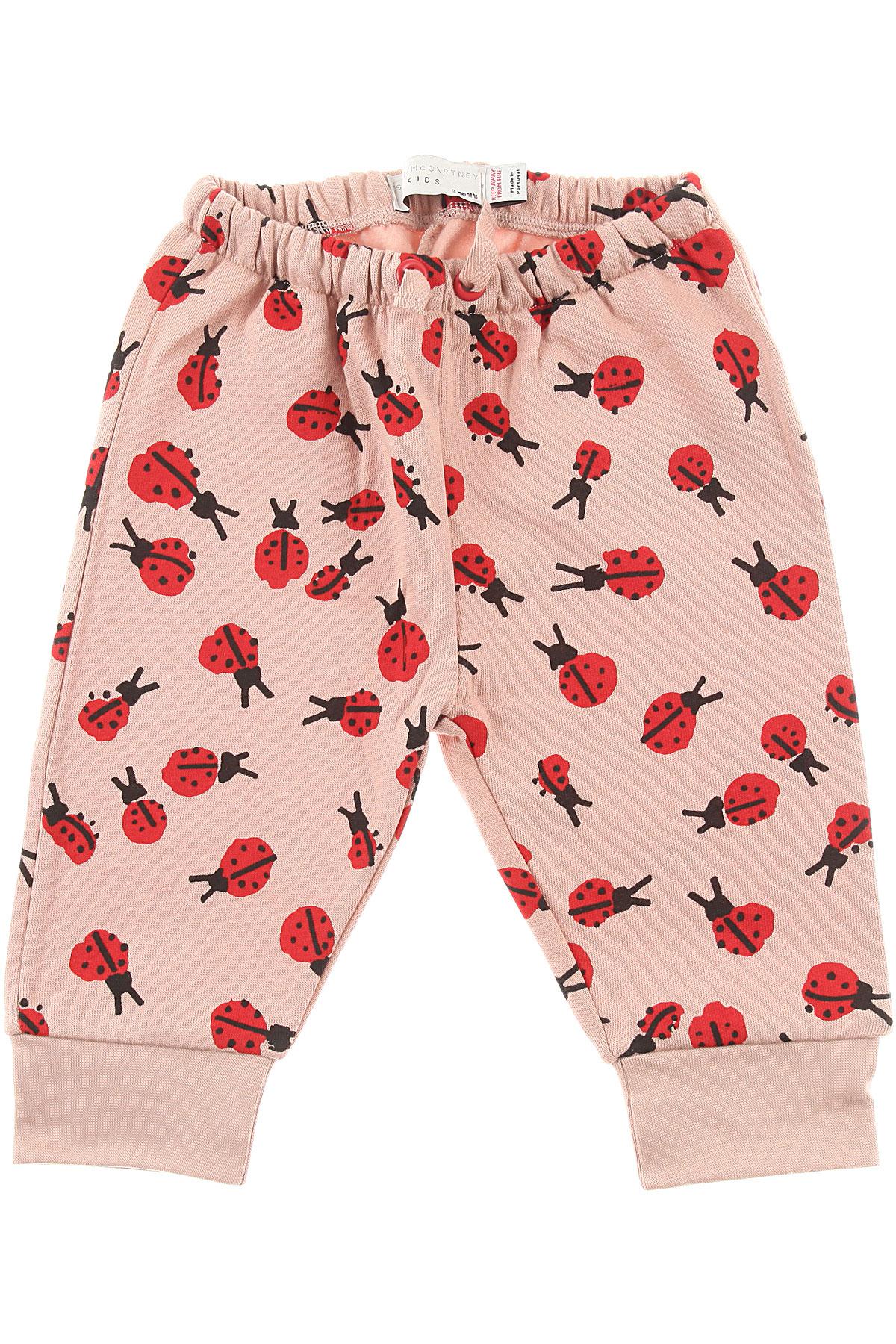Image of Stella McCartney Baby Sweatpants for Girls, Pink, Cotton, 2017, 12M 18M 2Y 3M 3Y 6M 9M