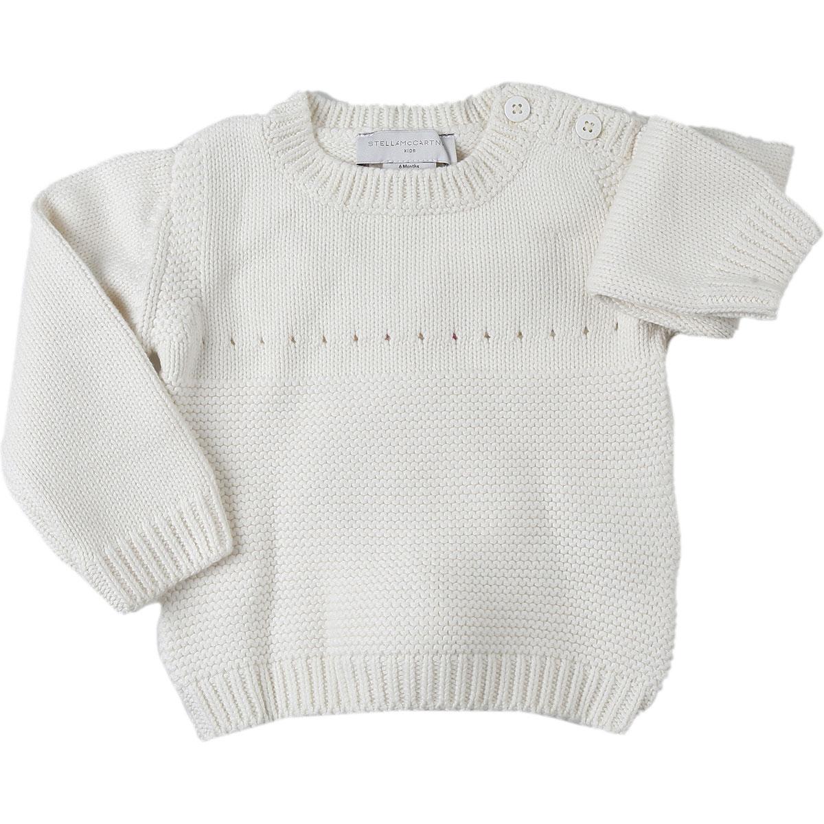 Stella McCartney Baby Sweaters for Girls On Sale, Cream, Cotton, 2019, 12M 18M 3M 6M 9M
