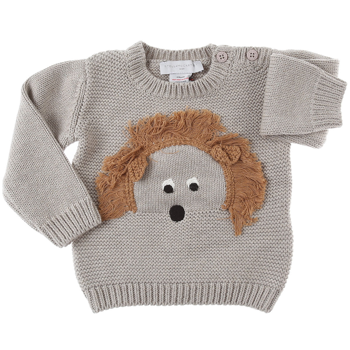 Stella McCartney Baby Sweaters for Boys On Sale, Grey Beige, Cotton, 2019, 12 M 18M 3M 6M