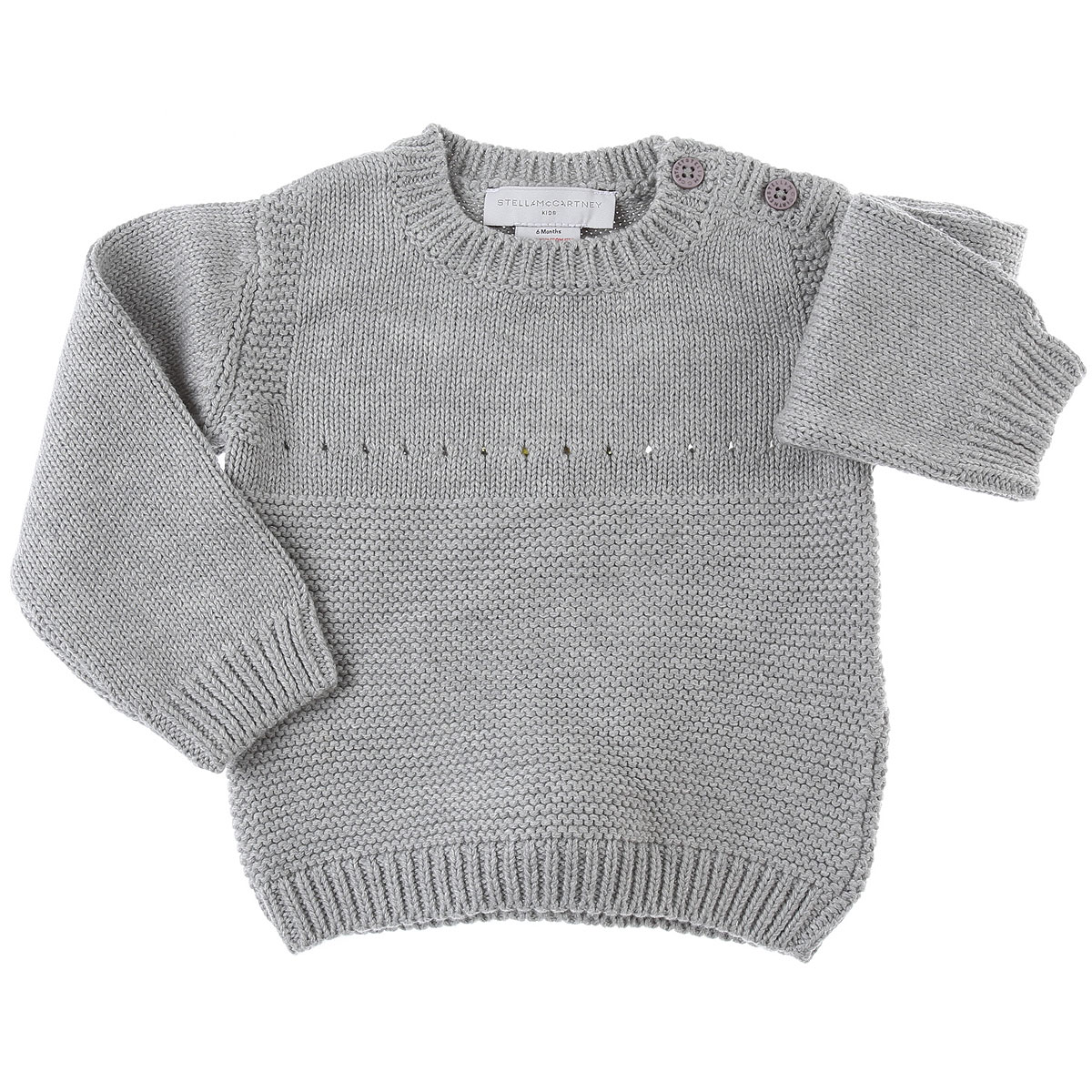 Stella McCartney Baby Sweaters for Boys On Sale, Grey, Cotton, 2019, 12 M 18M 3M 6M 9M