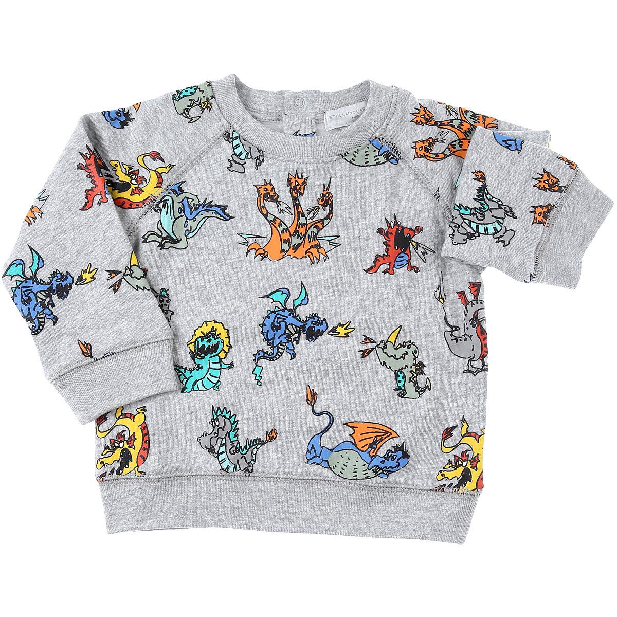 Stella McCartney Baby Sweatshirts & Hoodies for Boys On Sale, Grey, Cotton, 2019, 18M 6M 9M