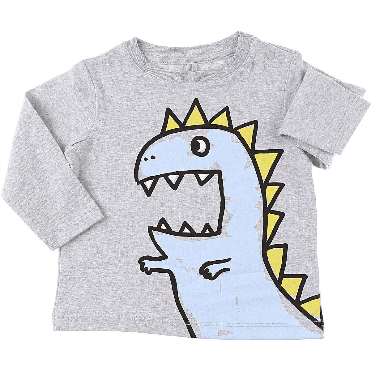 Stella McCartney Baby T-Shirt for Boys On Sale, Grey, Cotton, 2019, 12 M 18M 2Y 6M 9M