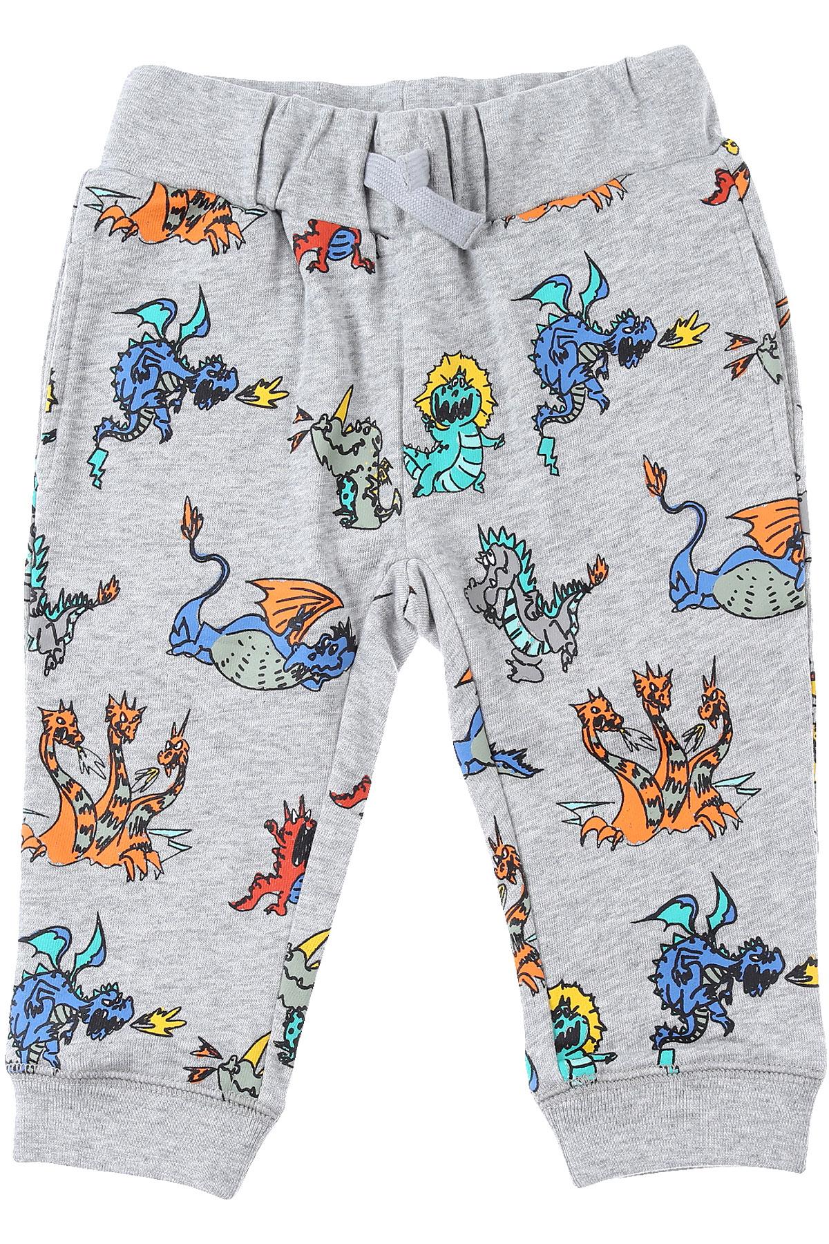 Stella McCartney Baby Sweatpants for Boys On Sale, Grey, Cotton, 2019, 12 M 18 M 2Y 6M 9 M