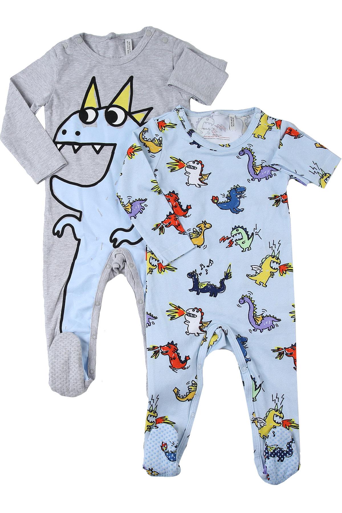 Stella McCartney Baby Bodysuits & Onesies for Boys On Sale, Grey, Cotton, 2019, 3M 6M 9M