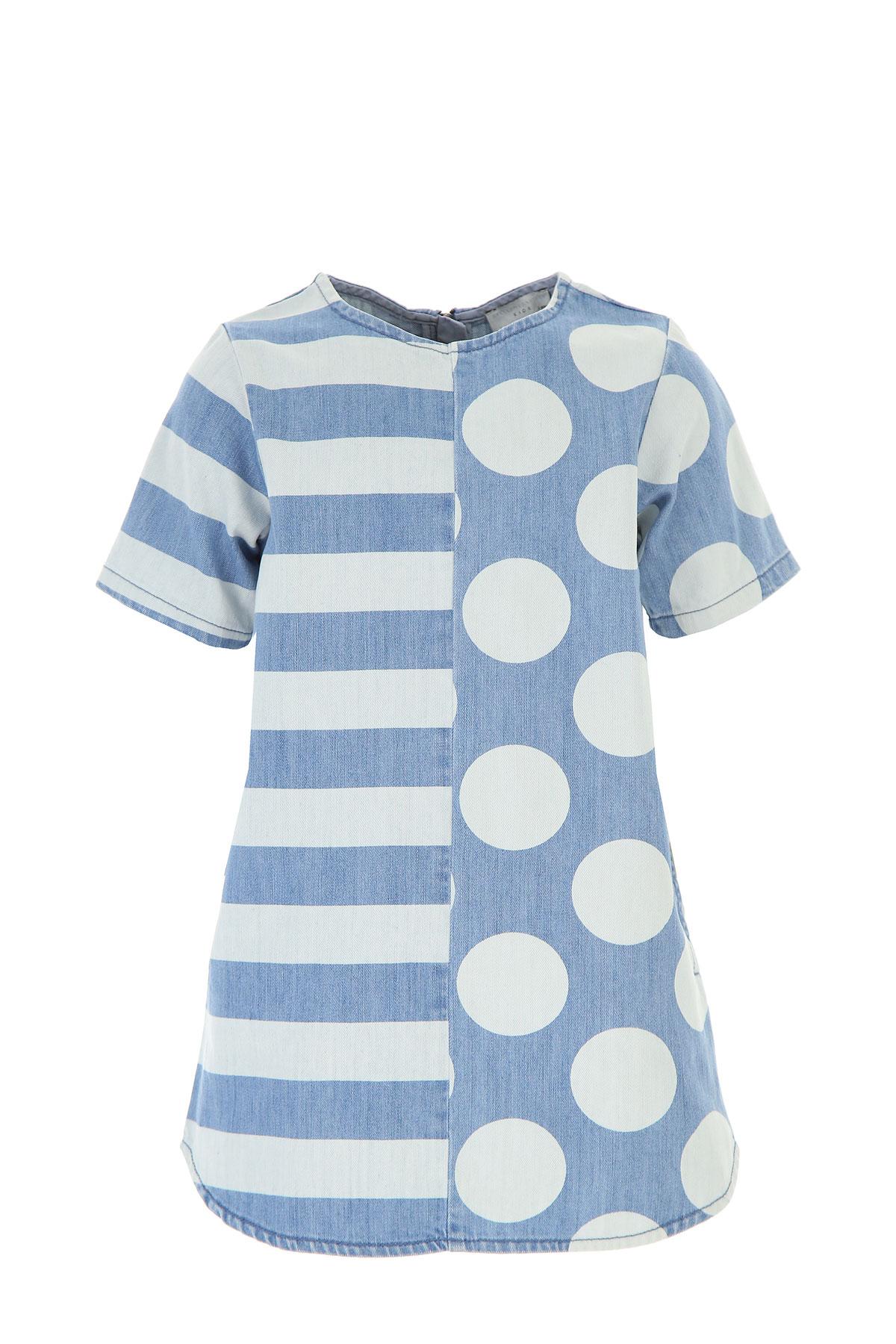Stella McCartney Girls Dress On Sale, Blue Denim, Cotton, 2017, 10Y 2Y 4Y 8Y USA-446119