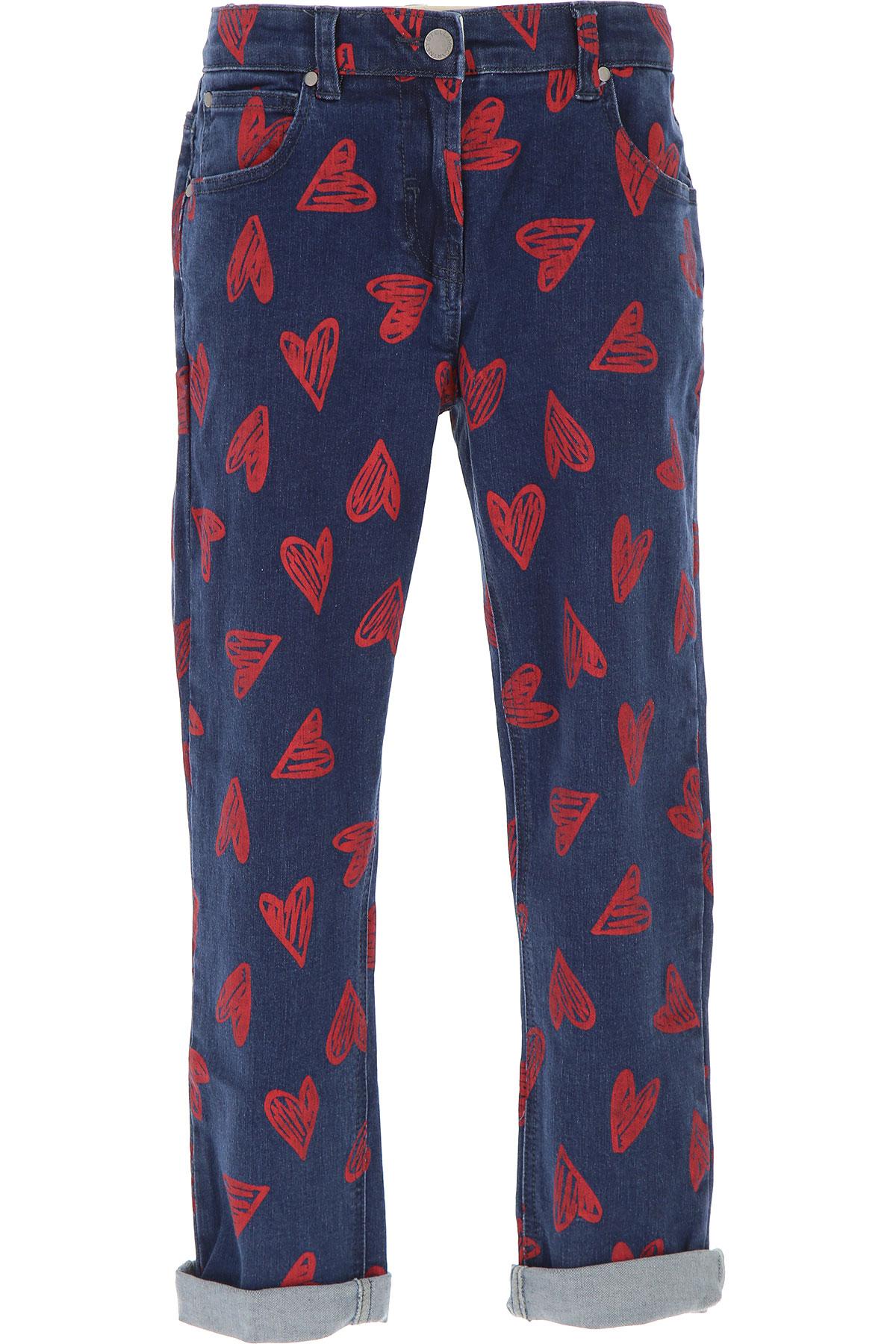 Stella McCartney Kids Jeans for Girls, Blue Denim, Cotton, 2017, 10Y 14Y 16Y 8Y USA-471423