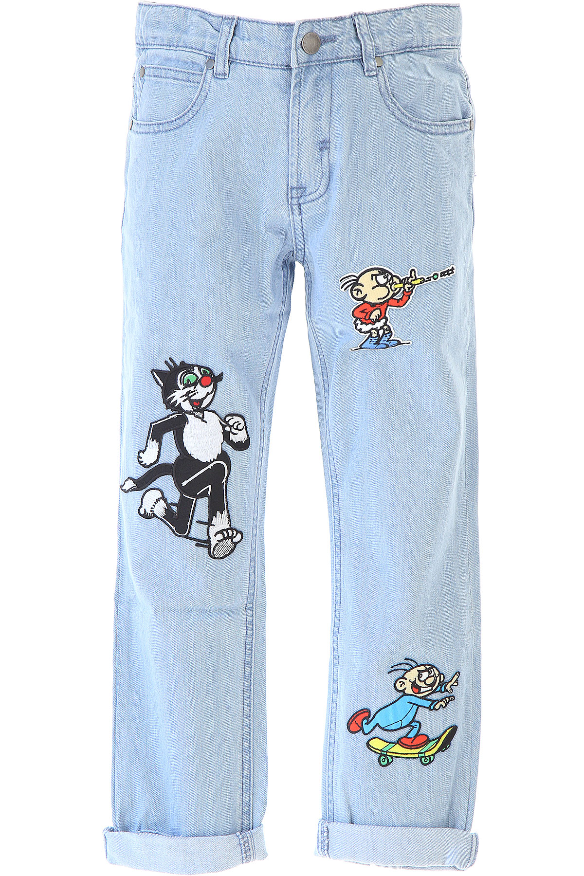 Stella McCartney Kids Jeans for Boys, Blue Denim, Cotton, 2017, 10Y 14Y 16Y 4Y 8Y USA-467565