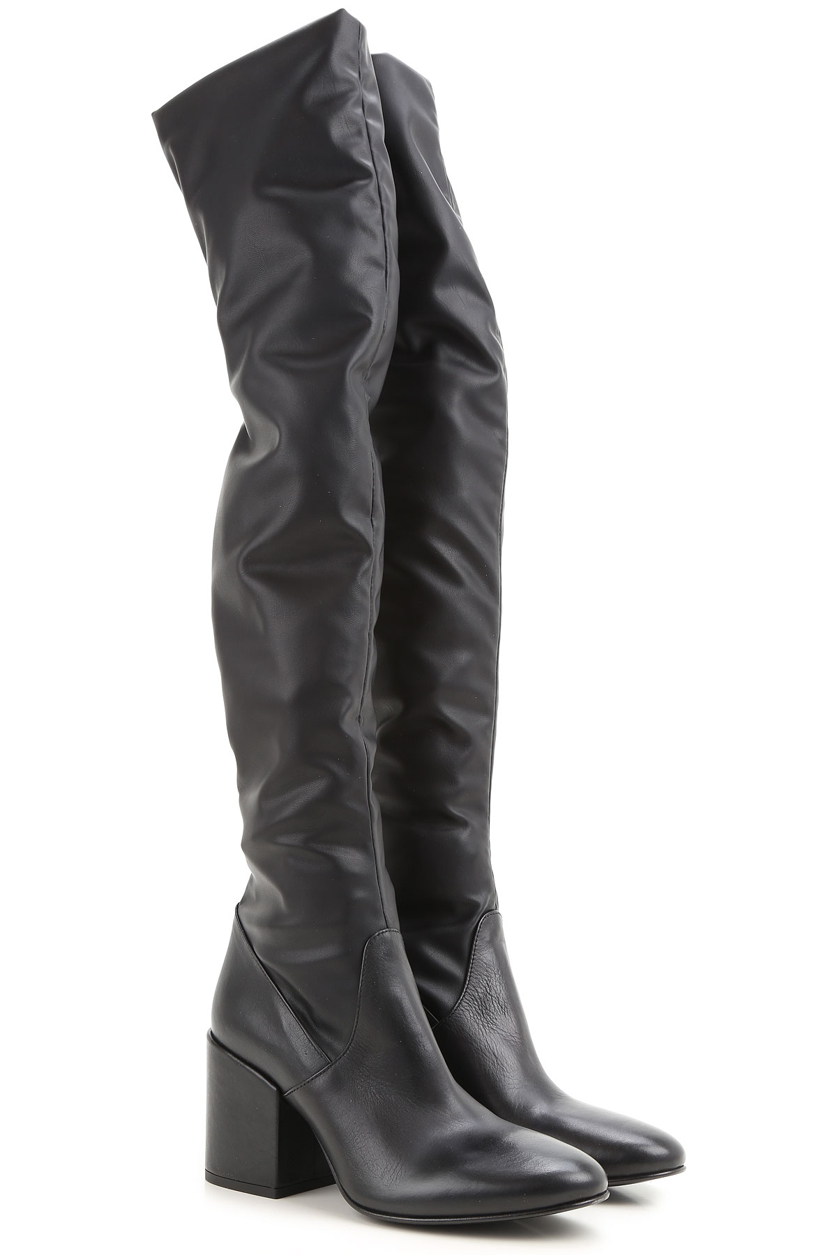 Image of Strategia Boots for Women, Booties, Black, Leather, 2017, 6 9