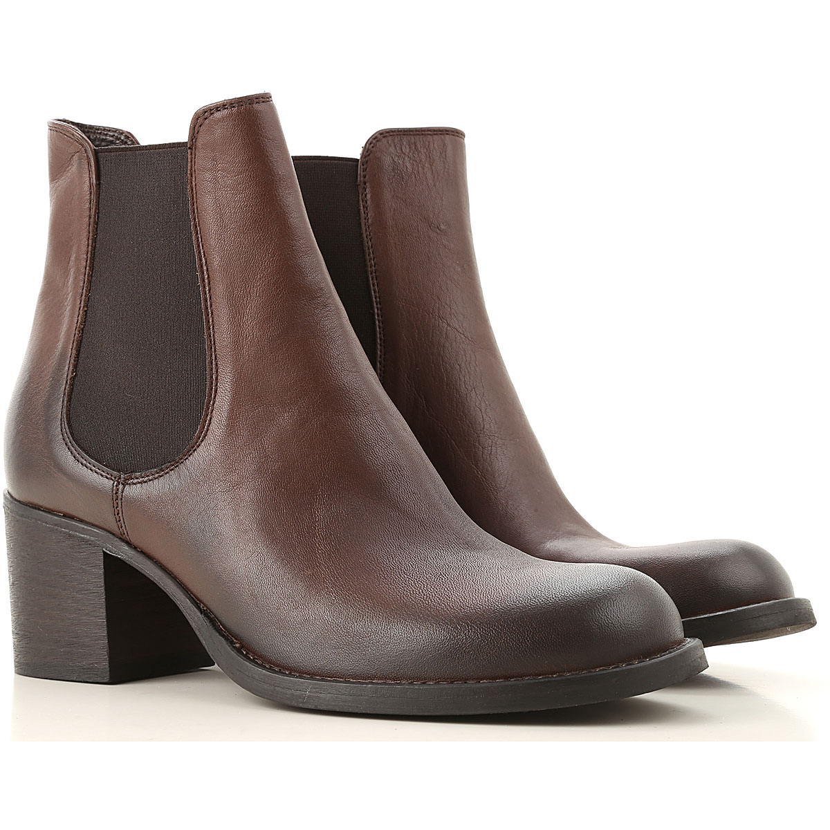 Strategia Chelsea Boots for Women On Sale, Dark Brown, Leather, 2019, 10 6 7 8 9