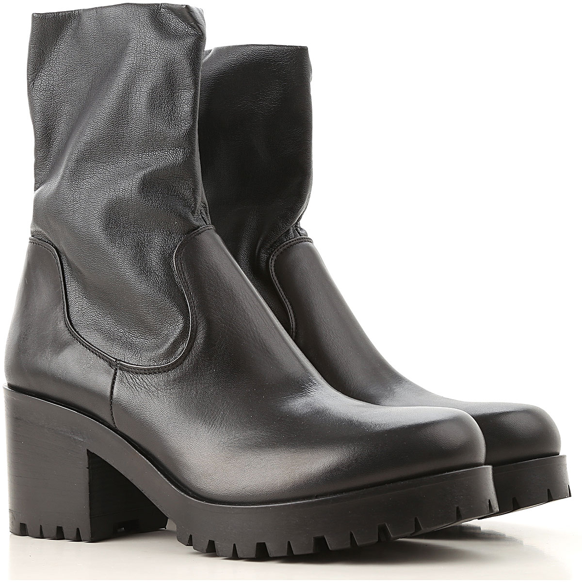 Image of Strategia Boots for Women, Booties, Black, Leather, 2017, 6 7 9