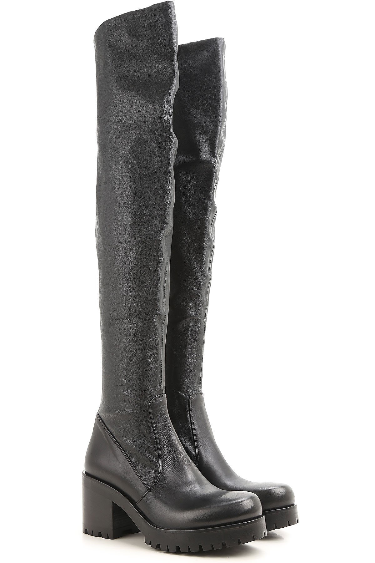 Image of Strategia Boots for Women, Booties, Black, Leather, 2017, 10 8