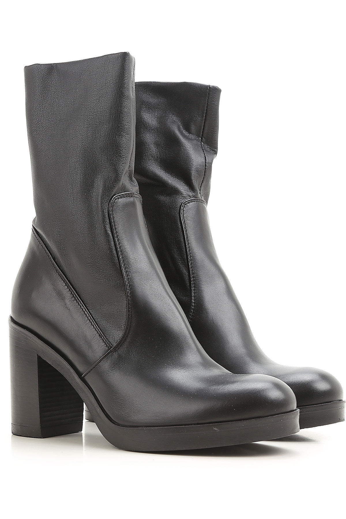 Image of Strategia Boots for Women, Booties, Black, Leather, 2017, 6 7 8 9