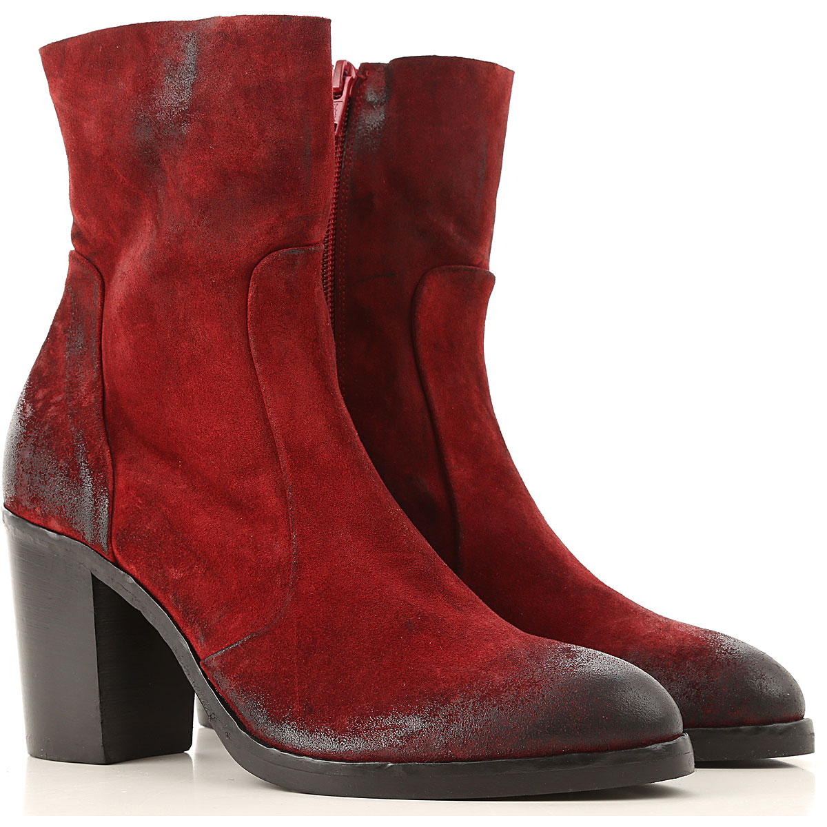 Strategia Boots for Women, Booties On Sale, Bordeaux, Suede leather, 2019, 6 9