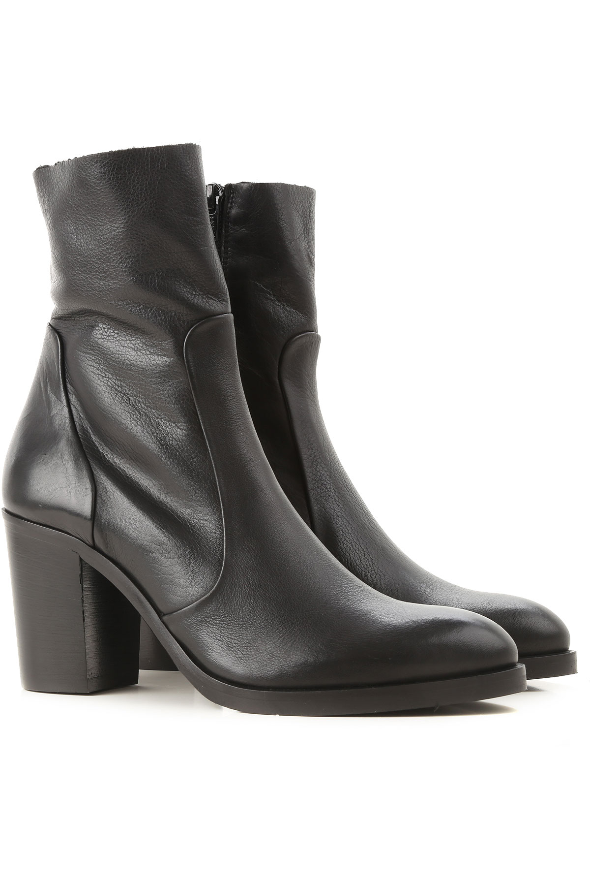 Strategia Boots for Women, Booties On Sale, Black, Leather, 2019, 10 6 7 8 9