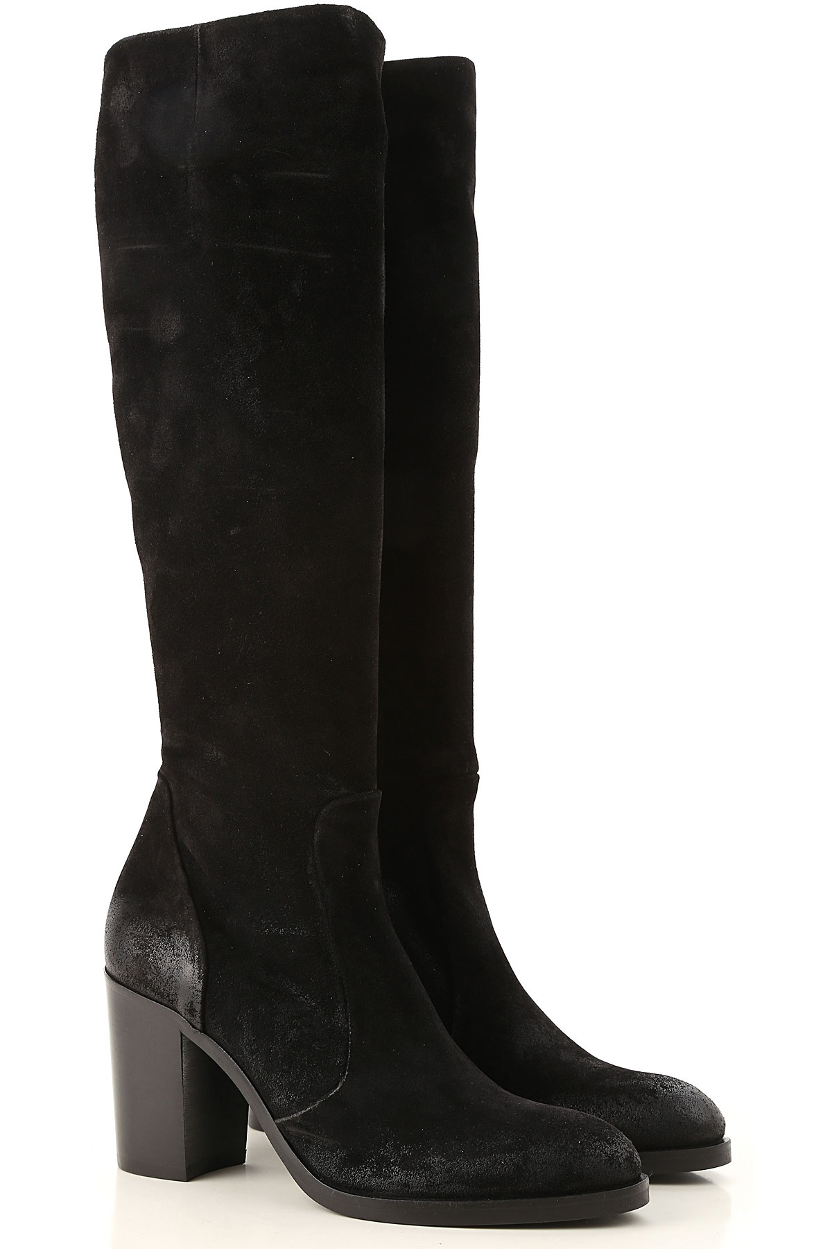 Image of Strategia Boots for Women, Booties, Black, suede, 2017, 10 6 7 8 9