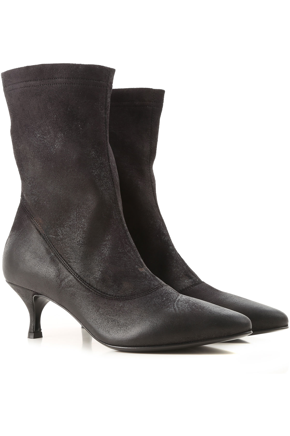 Image of Strategia Boots for Women, Booties, Black, Leather, 2017, 10 6 6.5 7 8