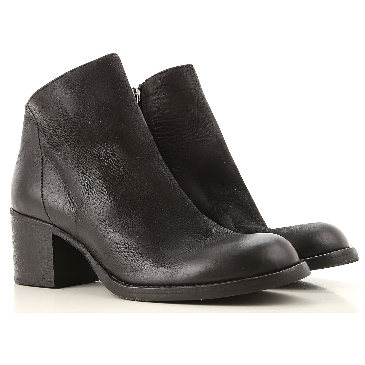 Strategia Boots for Women, Booties On Sale, Black, Leather, 2019, 7 8