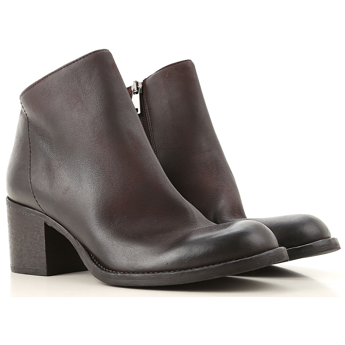 Strategia Boots for Women, Booties On Sale, Dark Brown, Leather, 2019, 6 7 8 9