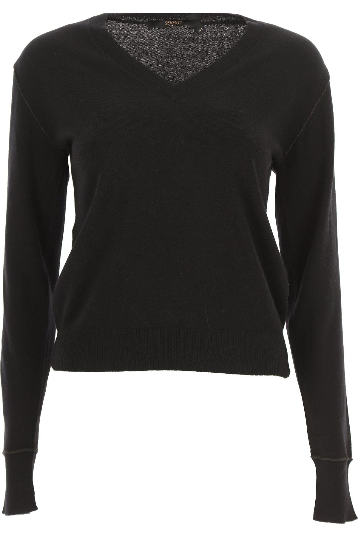 Seventy Sweater for Women Jumper On Sale, Black, polyamide, 2019, 4 6