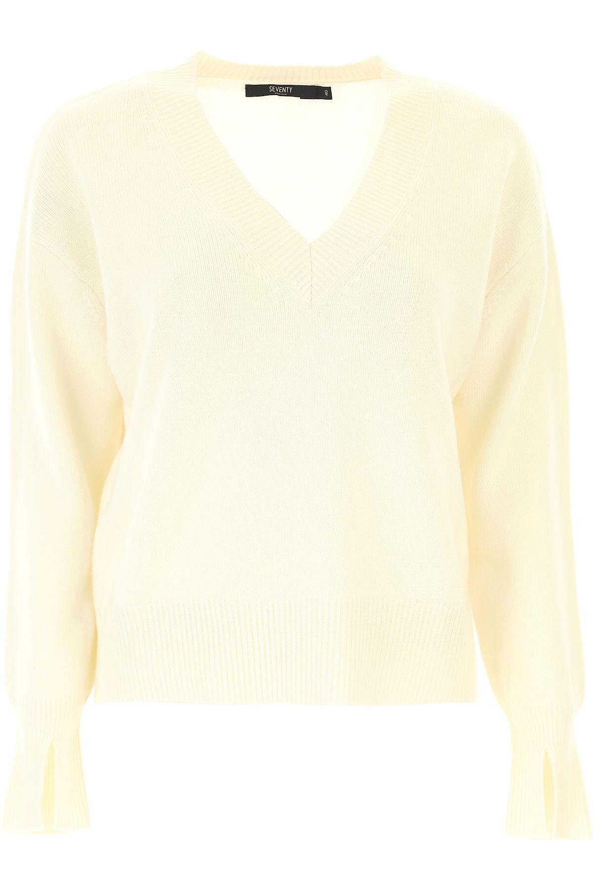 Seventy Sweater for Women Jumper On Sale, White, Wool, 2019, 4 6 8