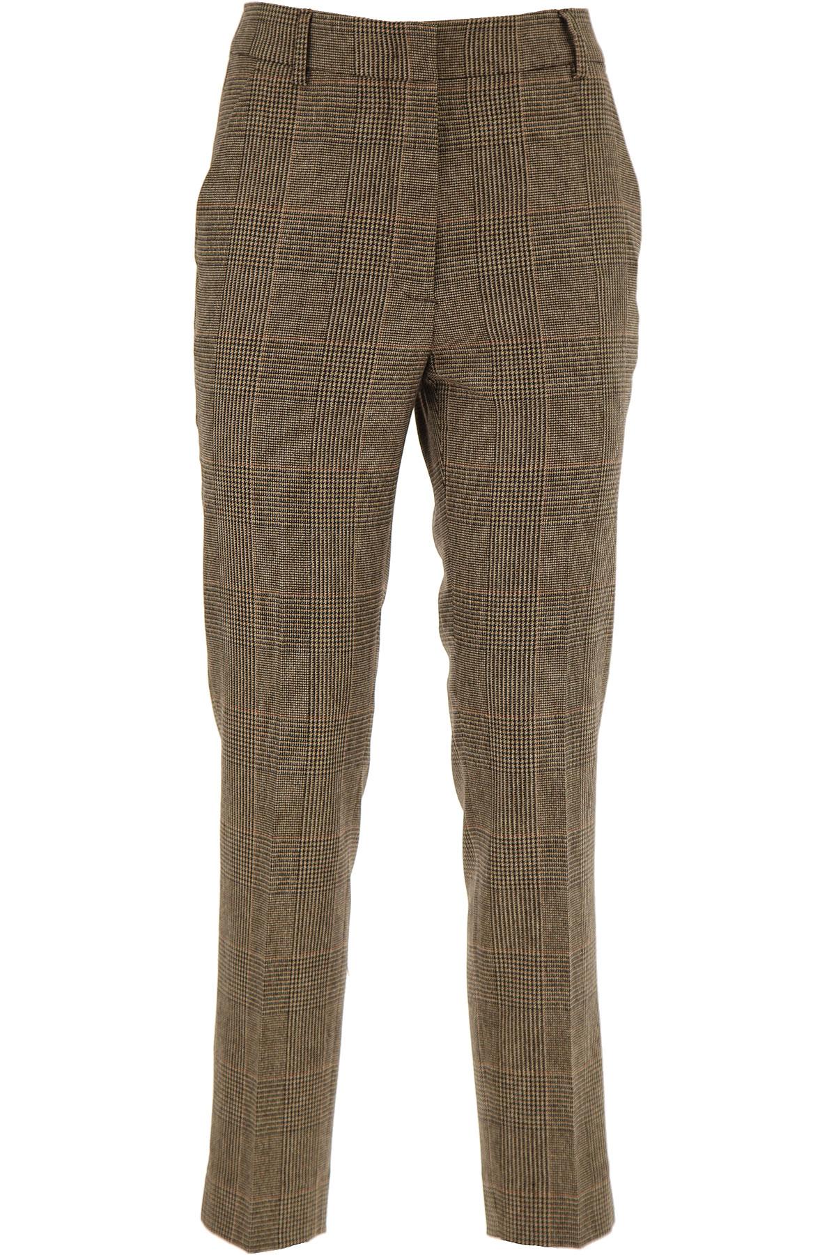 Image of Seventy Pants for Women On Sale, Mud, Virgin wool, 2017, 10 12