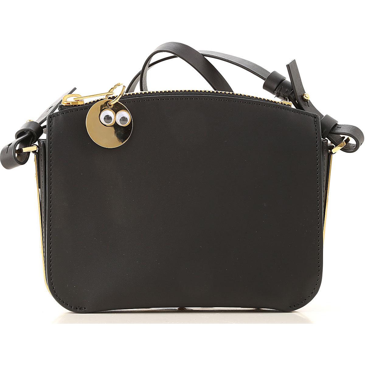 Sophie Hulme Top Handle Handbag On Sale in Outlet, Black, Leather, 2019