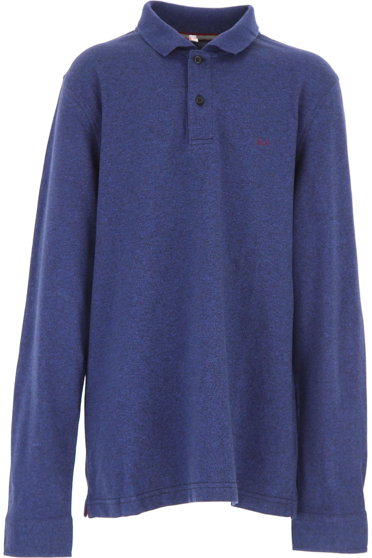 Image of Sun68 Kids Polo Shirt for Boys, Blue Black, Cotton, 2017, 10Y 14Y 2Y 4Y 6Y 8Y
