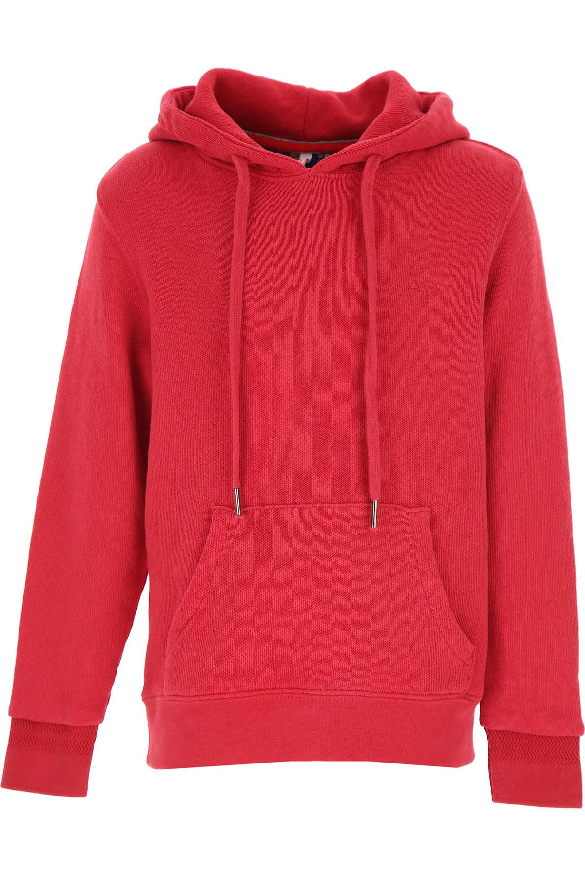 Sun68 Kids Sweatshirts & Hoodies for Boys On Sale, Red, Cotton, 2019, 10Y 14Y 4Y 6Y 8Y