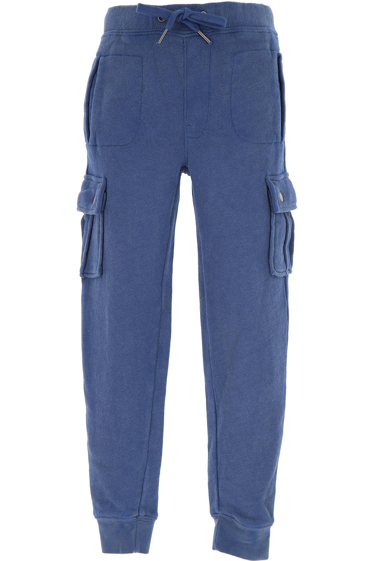 Sun68 Kids Sweatpants for Boys On Sale, Blue, Cotton, 2019, 4Y 6Y