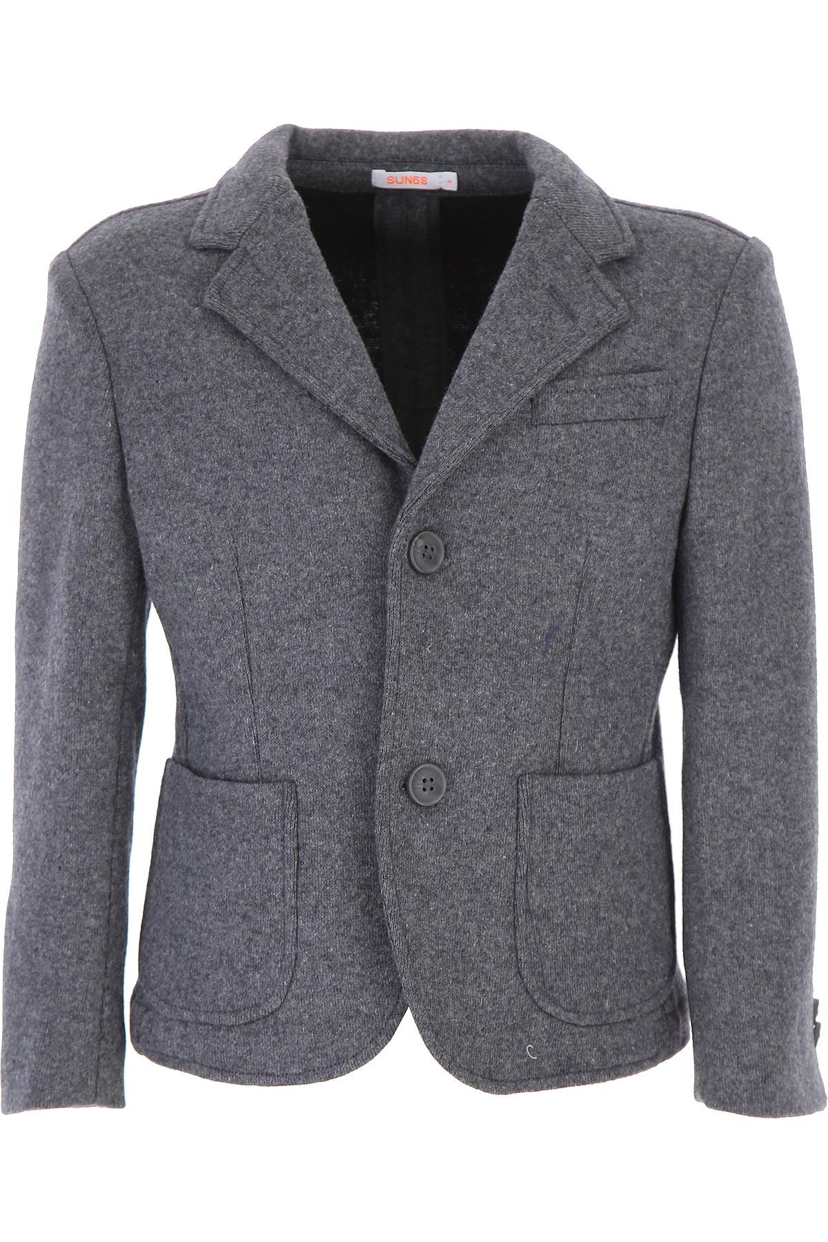 Image of Sun68 Kids Jacket for Boys, Grey, polyester, 2017, 10Y 14Y 16Y 4Y 6Y 8Y
