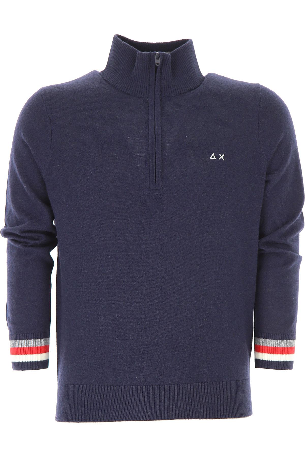 Image of Sun68 Kids Sweaters for Boys, Blue Navy, merino wool, 2017, 10Y 14Y 2Y 4Y 6Y 8Y