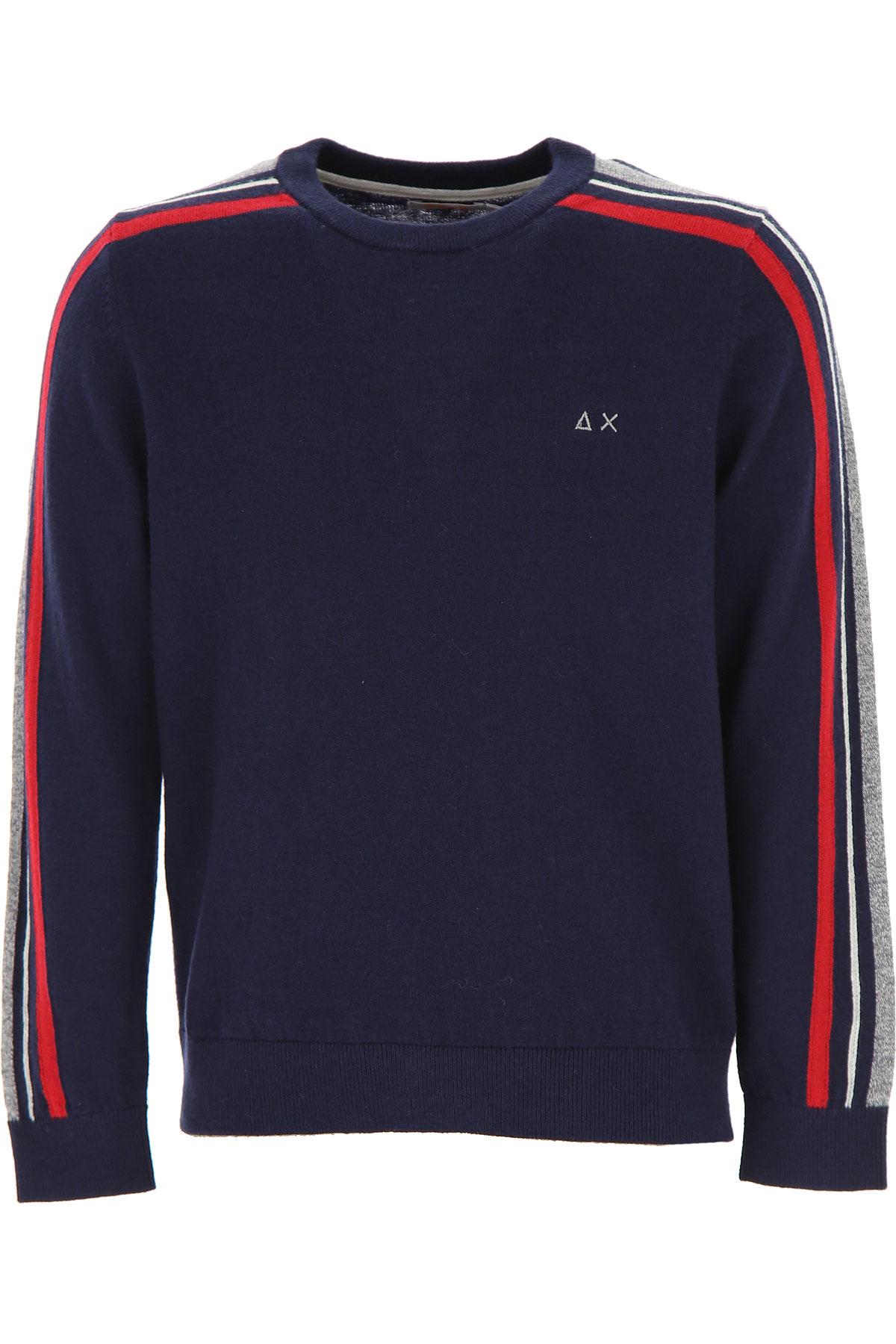 Sun68 Kids Sweaters for Boys On Sale, Blue, Wool, 2019, 10Y 12Y 6Y 8Y