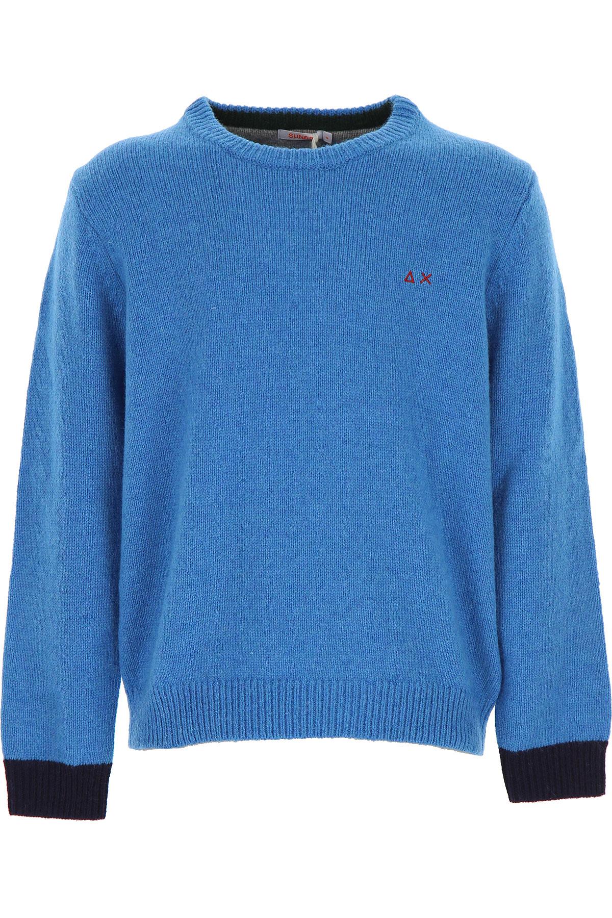 Sun68 Kids Sweaters for Boys On Sale, Skyblue, Wool, 2019, 12Y 2Y 4Y 6Y 8Y