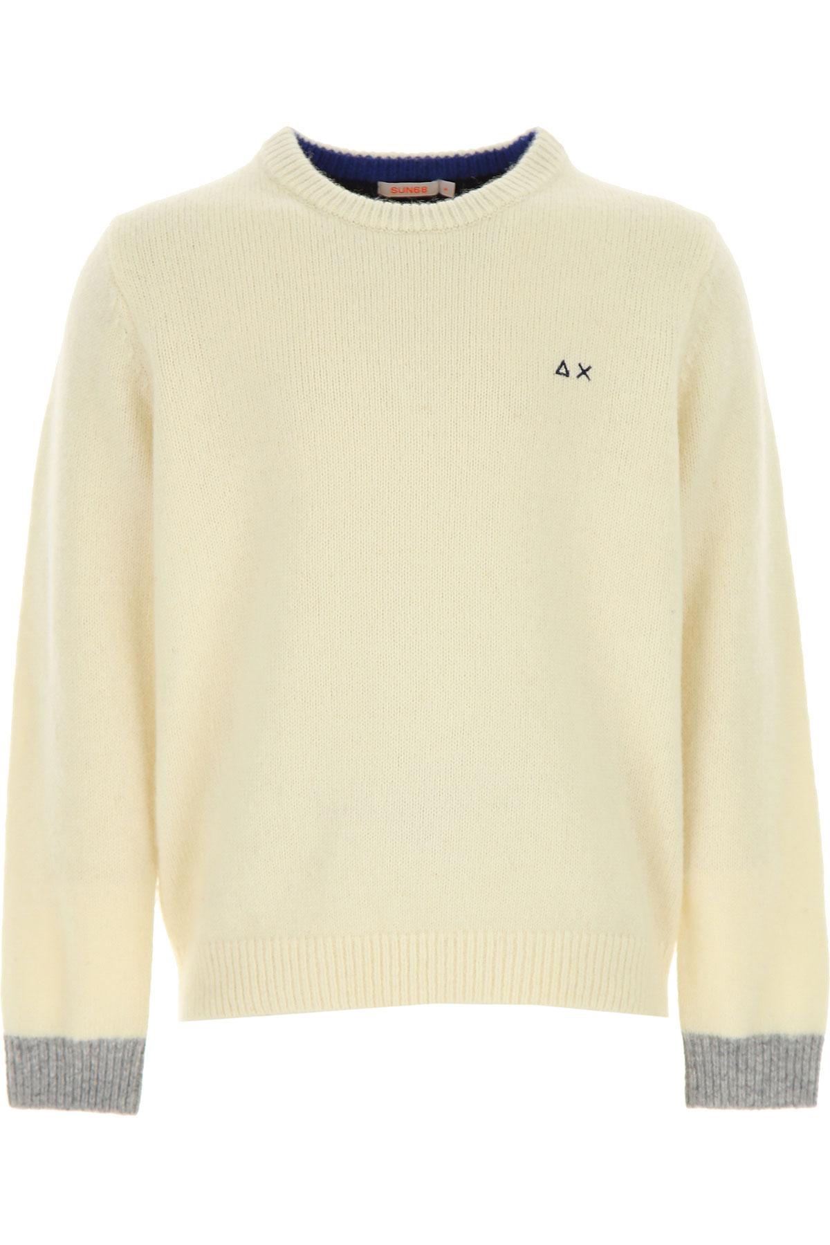 Sun68 Kids Sweaters for Boys On Sale, Cream, Wool, 2019, 12Y 4Y 6Y
