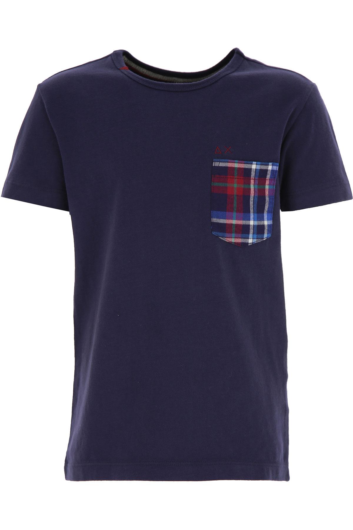 Sun68 Kids T-Shirt for Boys On Sale, Blue, Cotton, 2019, 12Y 6Y 8Y